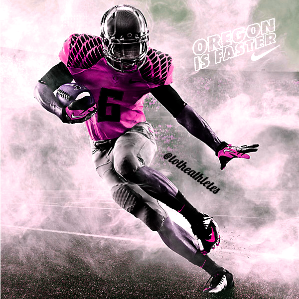 oregon ducks pink breast cancer uniform for 2013 football season