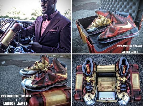 LeBron James  custom Iron Man 3 LeBron X - Athlete Swag s Photos    Lebron James Shoes 10 Iron Man