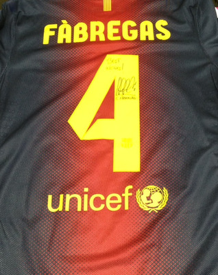 reputable site 13f5a 24c85 Win a Signed Cesc Fabregas FC Barcelona Jersey!